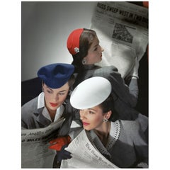 Hats by Best, Lord and Taylor and Mme Pauline, Gloves by Dawnelle, 1943