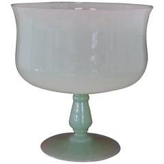 20th Century Italian Vase in Opal Green Artistic Glass