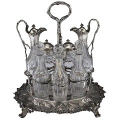 Antique Victorian Solid Silver Condiment Set, Hunt & Roskell, circa 1870