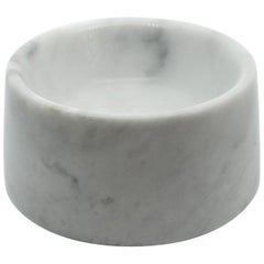 Cat and Dog Bowl in White Carrara Marble