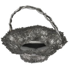Antique Victorian Solid Silver Fruit Basket, Hunt & Roskell, circa 1870