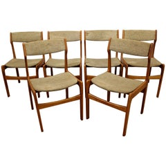 Set of Six Midcentury Danish Modern Teak Dining Chairs