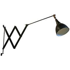 1930s Midgard Scissor Lamp, Model 110 Designed by Curt Fischer