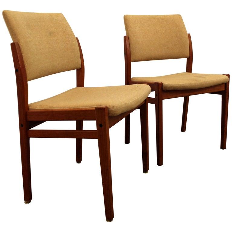 Pair of Danish Modern Svegards Markaryd Teak Dining Chairs