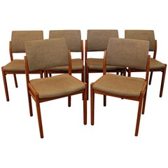 Set of Six Mid-Century Swedish Modern Svegards Markaryd Teak Dining Chairs