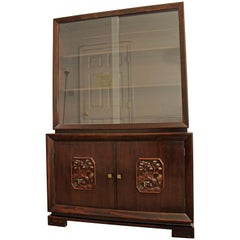 Midcentury Asian Ming-Style James Mont China Cabinet