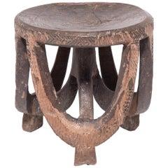 Tanzanian Hehe Round Tripod Stool