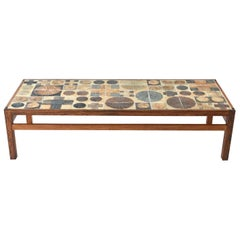 Tue Poulsen Ceramic Rosewood Coffee Table