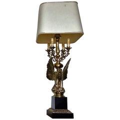 Midcentury Hollywood Regency Eagle Lamp from Deknudt
