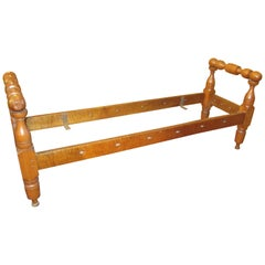 American Tiger Maple Daybed, Great for Hall Way Bench or Bench at Foot of Bed