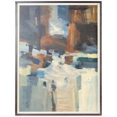 Acrylic Abstract Painting on Board in Frame