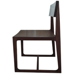 Contemporary Brazilian Hardwood Desk Side Chair Handcrafted in Brazil
