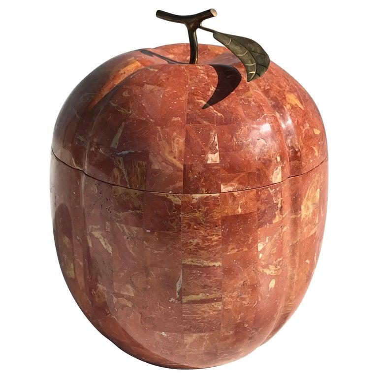 Pumpkin Shape Tessellated Stone Storage Box