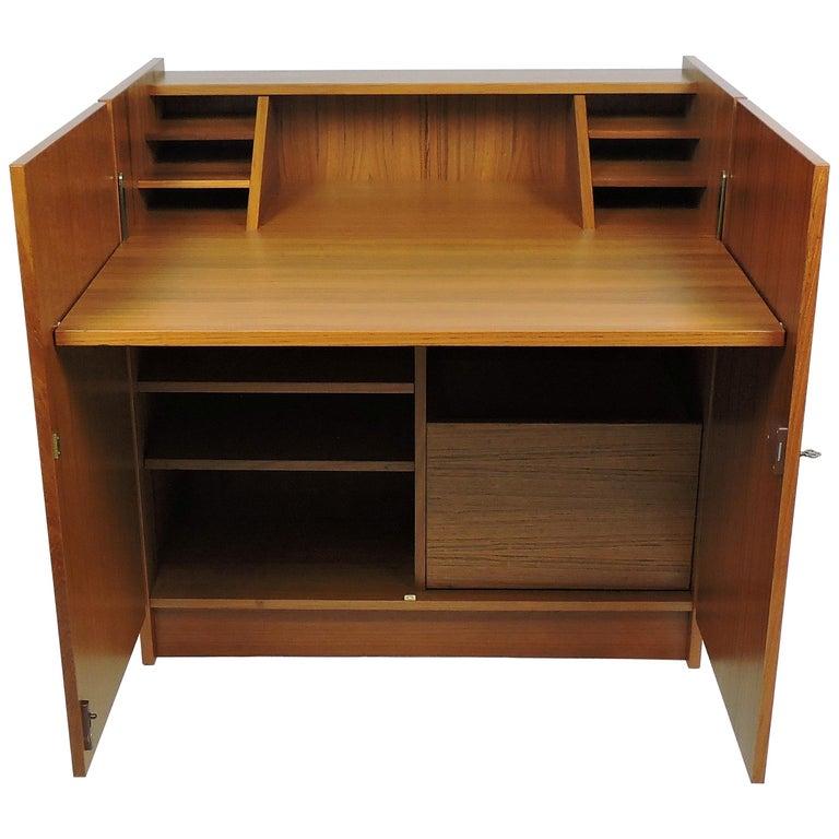 Danish Modern Teak Desk In A Box Magic By Brdr Furbo For
