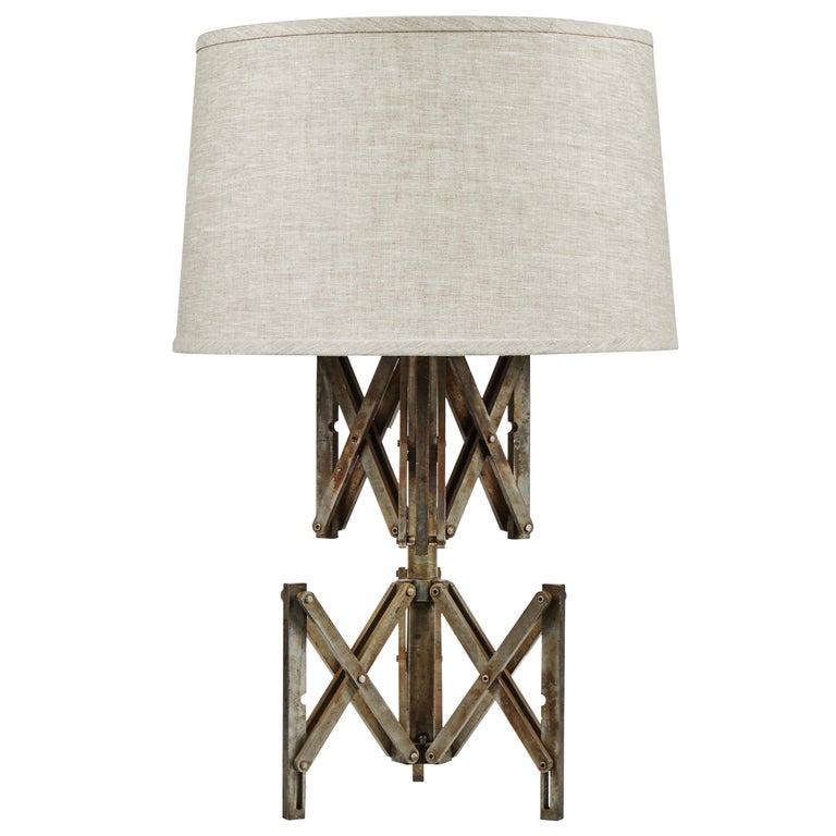 Industrial Metal Lamp with Custom Shade