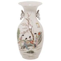 Four Seasons Chinese Phoenix Tail Vase