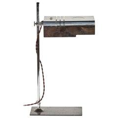 1960 Mid-Century Modern Adjustable Chrome Desk Lamp