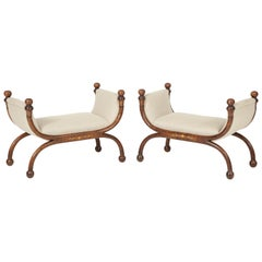 Pair of Biedermeier Benches