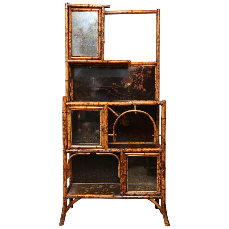 Superb 19th Century English Bamboo Cabinet For Sale