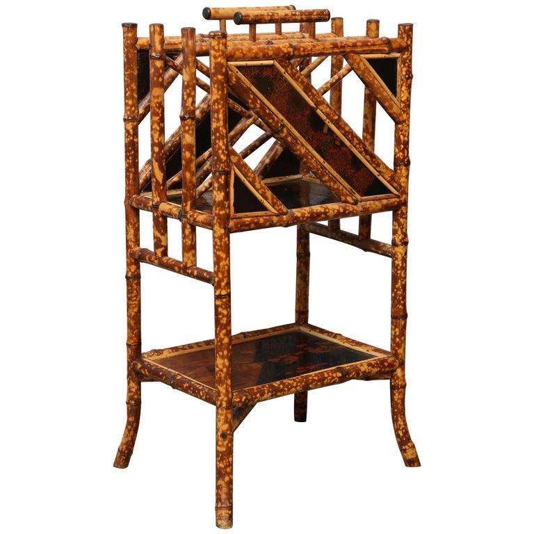 Superb 19th Century English Bamboo Magazine Rack
