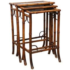 Superb Set of Three 19th Century Nesting Tables