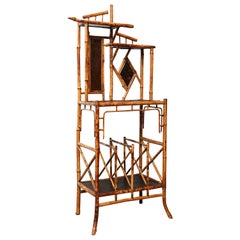 Superb 19th Century English Bamboo Magazine Rack