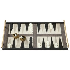 Shagreen Backgammon Game With Bronze Details