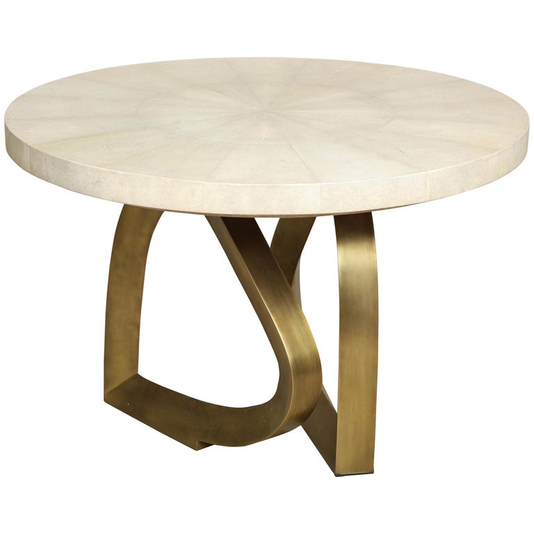 Shagreen and Bronze Breakfast Table