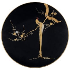 Japanese Lacquer Plate with Superb Decoration