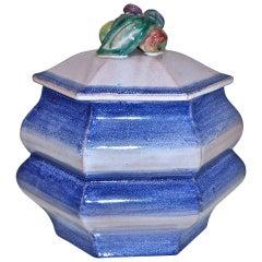 Weiner Werkstatte Large Ceramic Covered Vessel