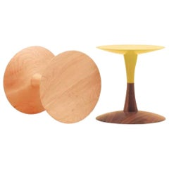 Turn Contemporary Pedestal Side Table in Maple by Patty Johnson