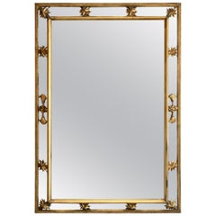 French Giltwood Cushion Mirror