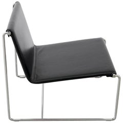 Black Leather Armchair from Zanotta, Italy