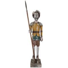 Spanish Wood Painted Don Quixote, circa 1930