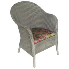 English Wicker Garden Chair by Lloyd Loom