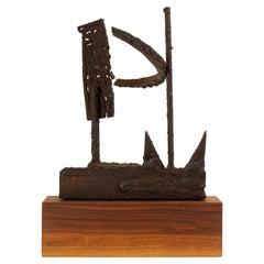 Mounted Brutalist Figurine