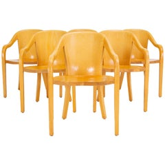 Set of Six University Chairs by Ward Bennett for Brickel Associates