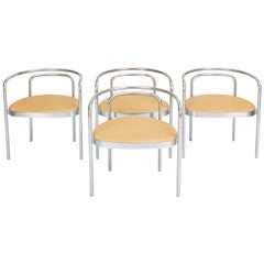 Set of Four PK-12 Dining Chairs by Poul Kjaerholm for E. Kold Christensen
