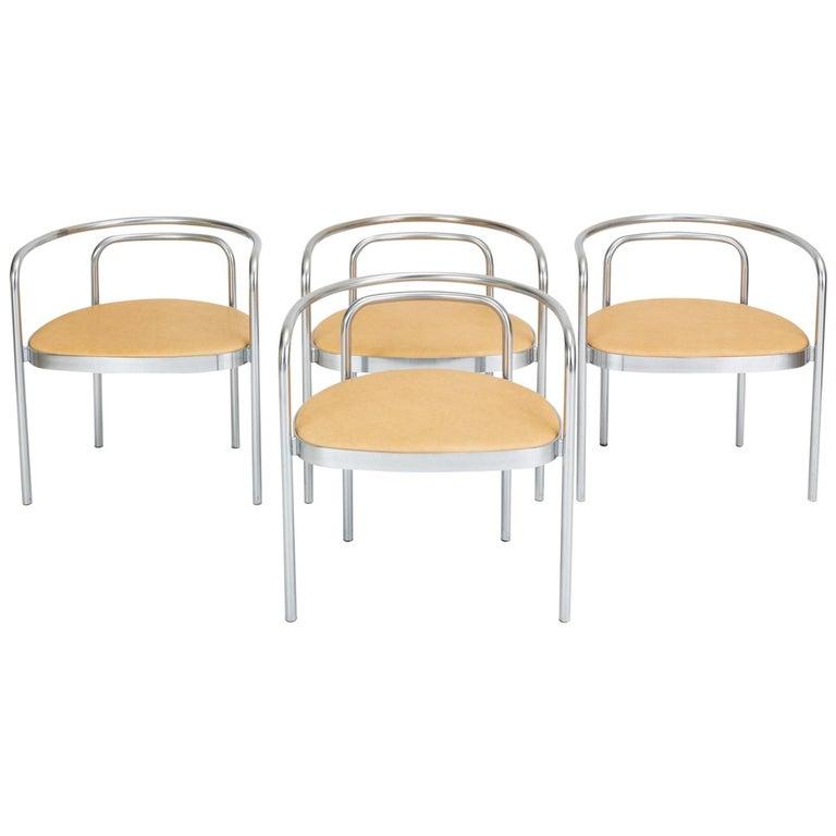 Set of Four PK-12 Dining Chairs by Poul Kjaerholm for E. Kold Christensen