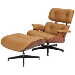 Third Generation Lounge Chair with Ottoman by Ray & Charles Eames for Herman Mil