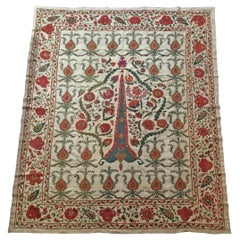Large Vintage Embroidery Suzani Textile