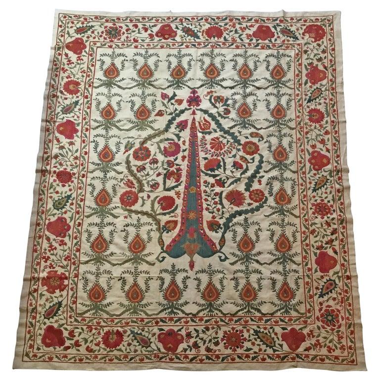 Large Vintage Embroidery Suzani Textile