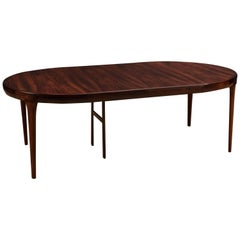 Danish Rosewood Round Dining Table by Ib Kofod-Larsen