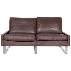 COR Conseta Leather Sofa Brown Leather Two-Seat Couch