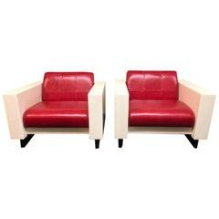 Pair of Brian Kane Fiberglass Armchairs