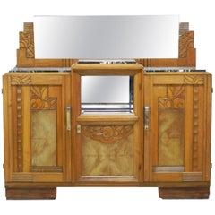 Art Deco Credenza Sideboard French Manner Sue et Mare Dresser Buffet, circa 1930