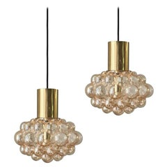 Set of Two Large Bubble Lights by Helena Tynell, Germany 1960s