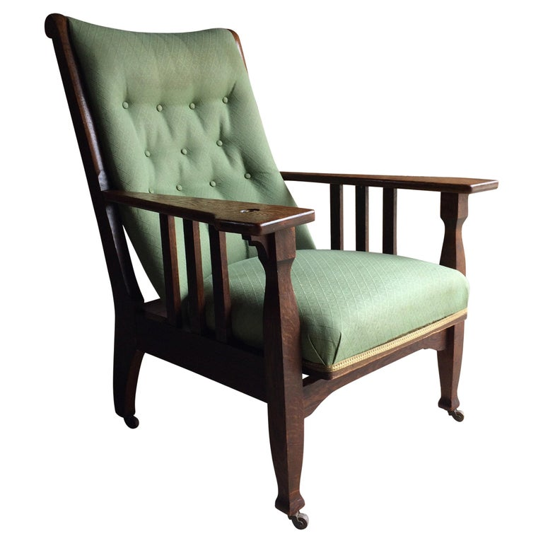 Arts & Crafts Armchair Lounge Smokers Chair 20th Century Oak