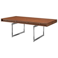 Rare Bodil Kjaer Executive Writing Table and Cabinet in Wenge