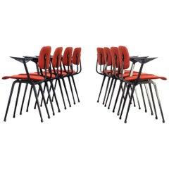 1950s Friso Kramer 'Revolt' Chair for Ahrend Set of Eight